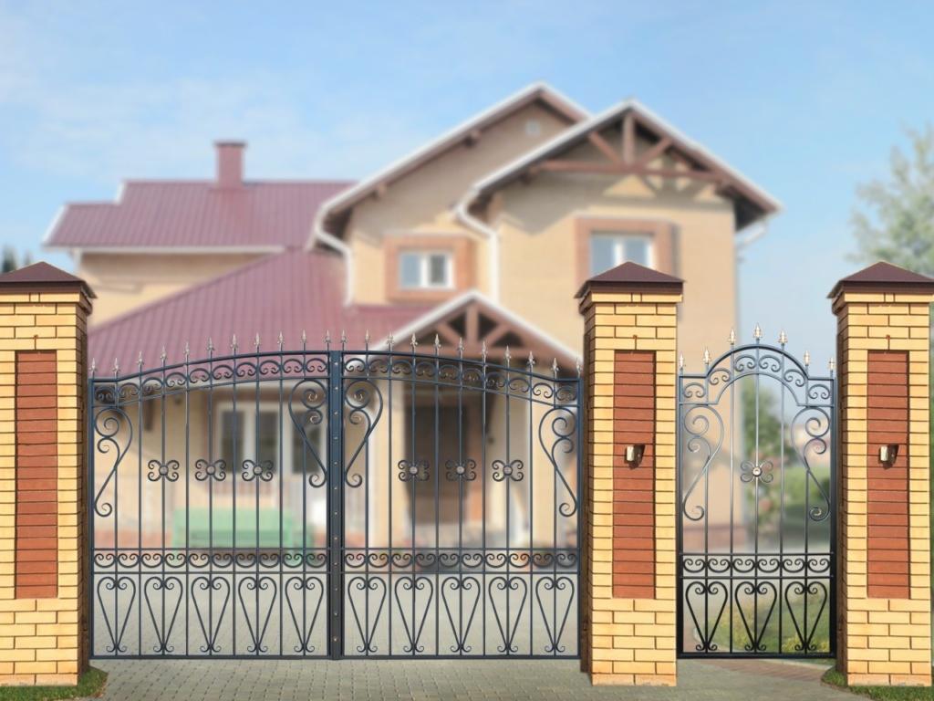 Ворота для дачи с калиткой